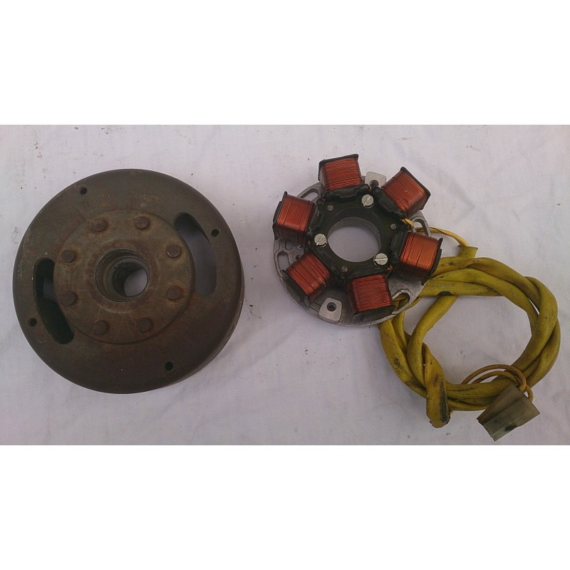 Magnetic flywheel and alternator Laverda 350