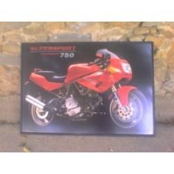 Framed poster Ducati...