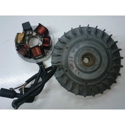 Magnetic flywheel and alternator Vespa PK125 XL (Motoplat)