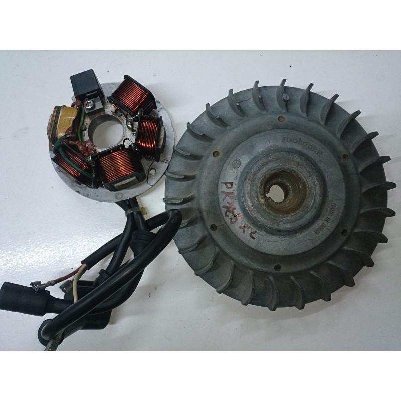 Magnetic flywheel and alternator Vespa PK125 XL (Motoplat)