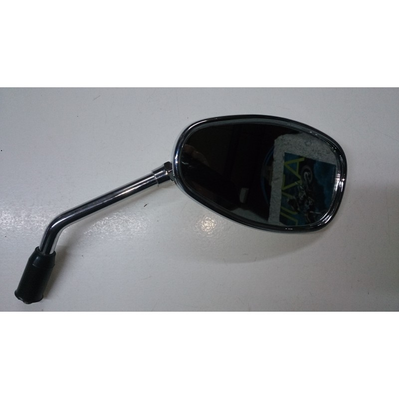 Chrome rearview mirror.