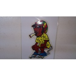 Sticker smoking in the WC.
