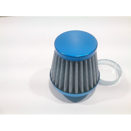 Straight air filter 28/35 blue.