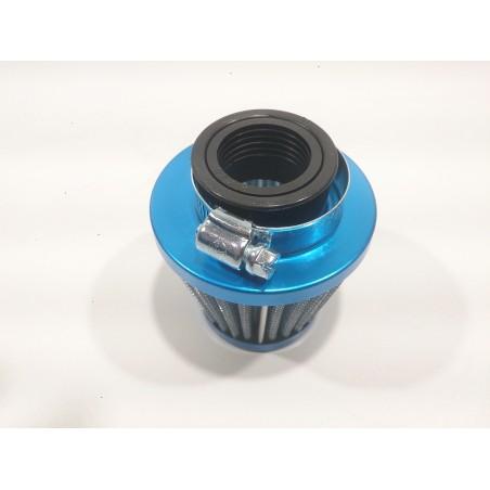 Filtro de aire conico recto 28/35 azul.