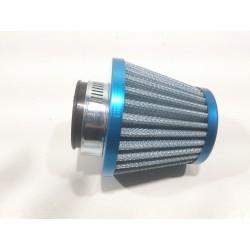 Straight air filter 28/35 blue.