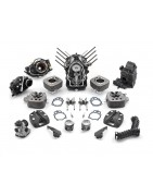 Motorcycle engine parts.
