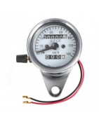 Odometer, tachometer, gauge instruments cluster for motorcycle